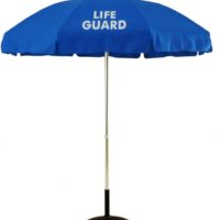 6.5 Ft. Aluminum Pop-Up Lifeguard Logo Umbrella - With Tilt