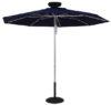 ILLUMISHADE Solar Powered LED Lighted Market Umbrella 9 ft.