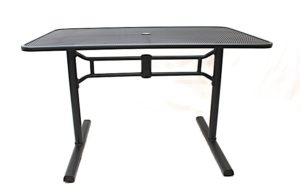Folding Solid Metal Top Table - outdoor furniture for sale