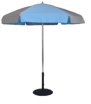 6.5 Ft. Aluminum Pop-Up Steel Rib No Tilt Umbrella (Pointed Bottom Pole)