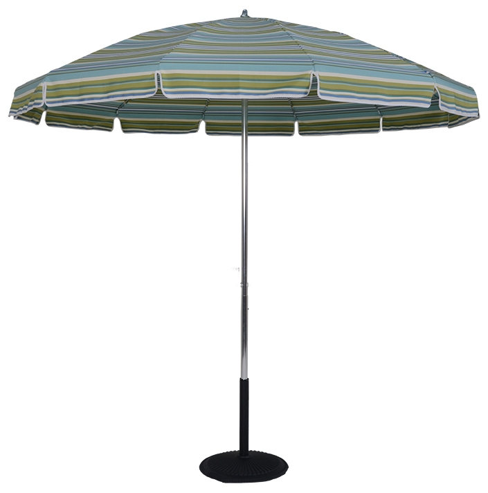 7.5 Ft. Aluminum Pop-Up Steel Rib No Tilt Umbrella