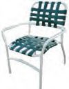Aruba Classic Strap Dining Chair, outdoor furniture
