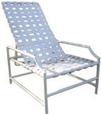 Brazilian Line Commercial Grade Cross Strap Bar Recliner Chair