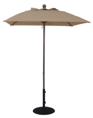 5 1/2' Aluminum Market Square Pop-Up Umbrella