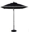 6 1/2' Aluminum Market Square Double Pulley Umbrella