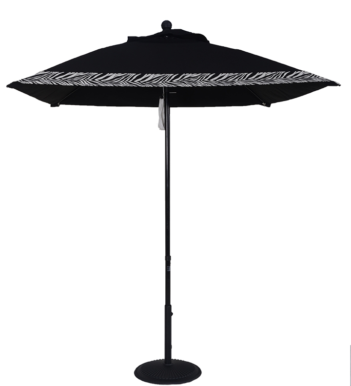 6 1/2' Aluminum Market Square Double Pulley Umbrella