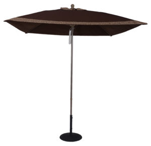 7 1/2' Aluminum Market Square Double Pulley Umbrella