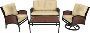 4 Pc. Patio Seating Furniture Set (Monroe Collection)