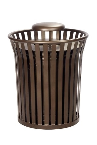 Waste Receptacle With Rain Bonnet - outdoor furniture for sale