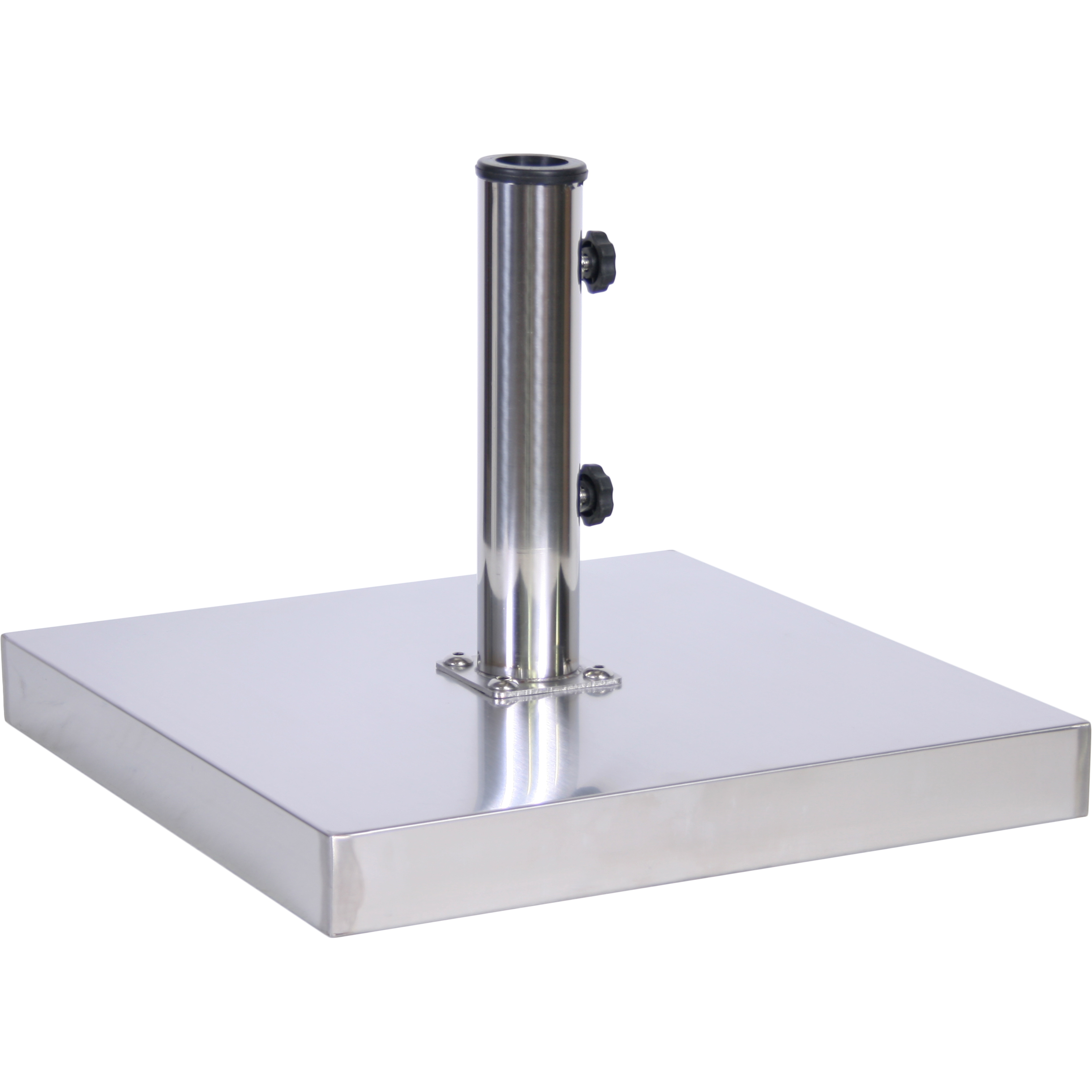 55 lb. Stainless Steel Cement Umbrella Base - MyUmbrellaShop.com