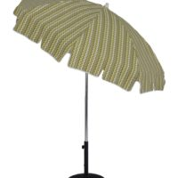 6.5 Ft. Aluminum Standard Pop-Up Fiberglass Manual Tilt Umbrella