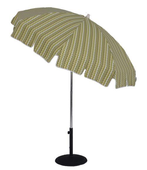 6.5 Ft. Aluminum Standard Pop-Up Fiberglass Manual Tilt Umbrella