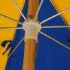 Wood Beach Umbrella Steel Rib Cage
