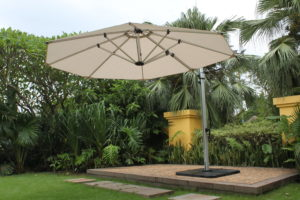 11 ft Aurora Round Cantilever/Offset Umbrella - MyUmbrellaShop.com