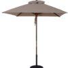 7 1/2 ft. Wood Market Square Umbrella - Beach Umbrellas for Sale