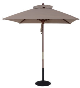 7 1/2 ft. Wood Market Square Umbrella - Beach Umbrellas for Sale