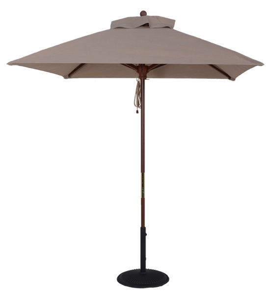 Wood Market Square Umbrella Beach Umbrellas For