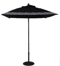 6.5 Ft. Aluminum Market Square Crank Umbrella
