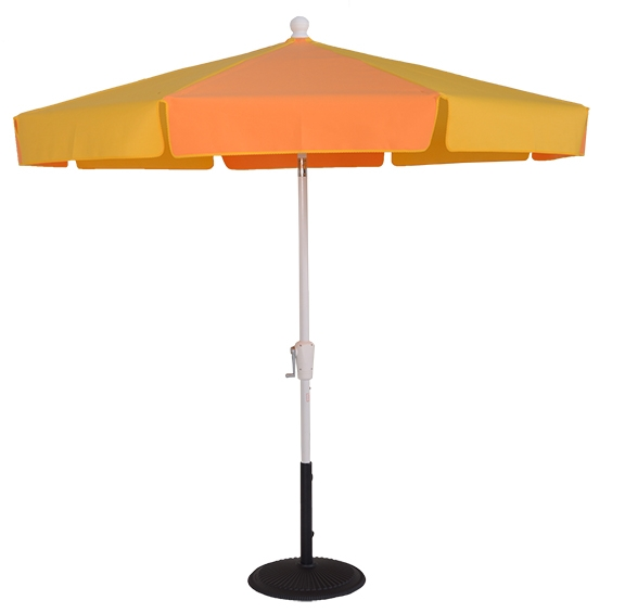 7 1/2 ft. Aluminum Patio Style Crank Standard Umbrella