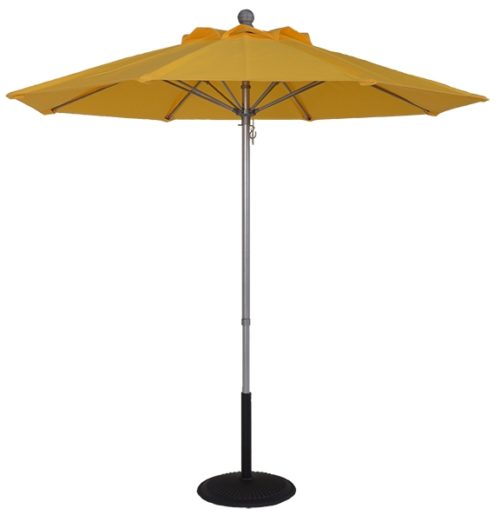 7.5 ft. Aluminum Pop-Up Market Fire Retardant Umbrella
