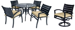 5 Pc. Patio Dining Furniture Set w/ Motion Chairs (Fremont Collection), outdoor furniture