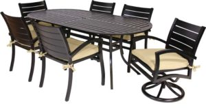 FREMONT 7 PC PATIO DINING SET W MOTION CHAIRS