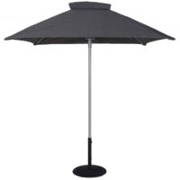 T2020 6.5 Ft Commercial Aluminum Market Square Umbrella - Beach Umbrellas