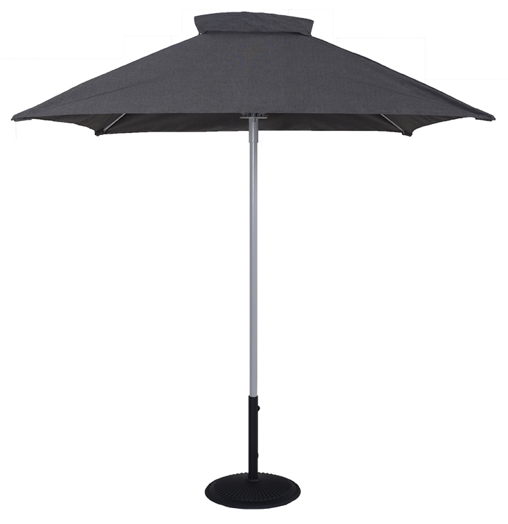 T2020 6.5 Ft Commercial Aluminum Market Square Umbrella - Beach Umbrellas