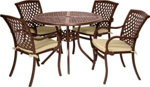 5 Pc. Patio Dining Furniture Set (Wellington Collection) - Outdoor Furniture