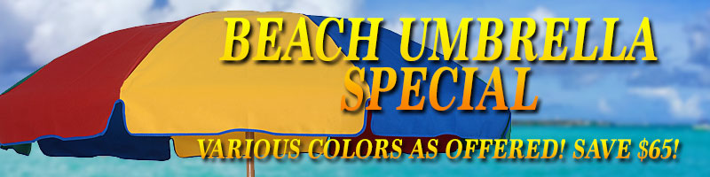 Beach Umbrella Specials