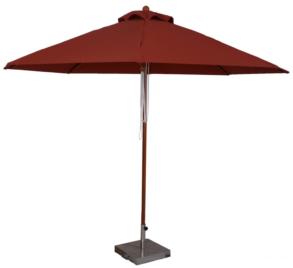 f2849b711c 11 Ft. Wood Market Umbrella