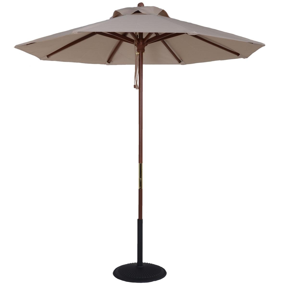 cfcd3ed5ae 9 ft. Wood Market Umbrella