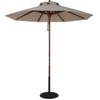 7.5 ft wood market umbrella