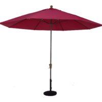 11 ft fiberglass rib auto tilt market umbrella