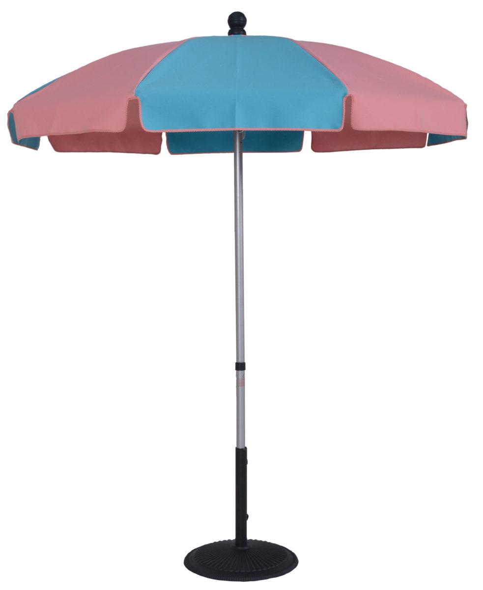 65 Ft Patio Umbrella With Skinny Fiberglass Ribs Manual Tilt