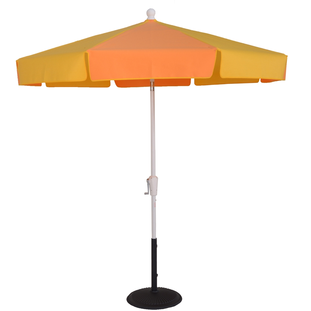 7 1 2 Ft Aluminum Patio Style Crank Standard Umbrella