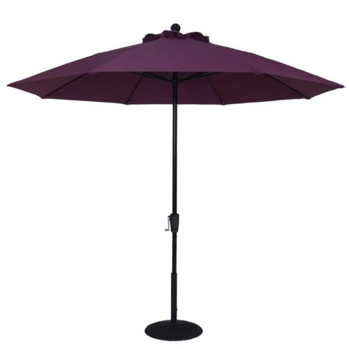 9 ft. Aluminum Market Crank Umbrella - No Tilt