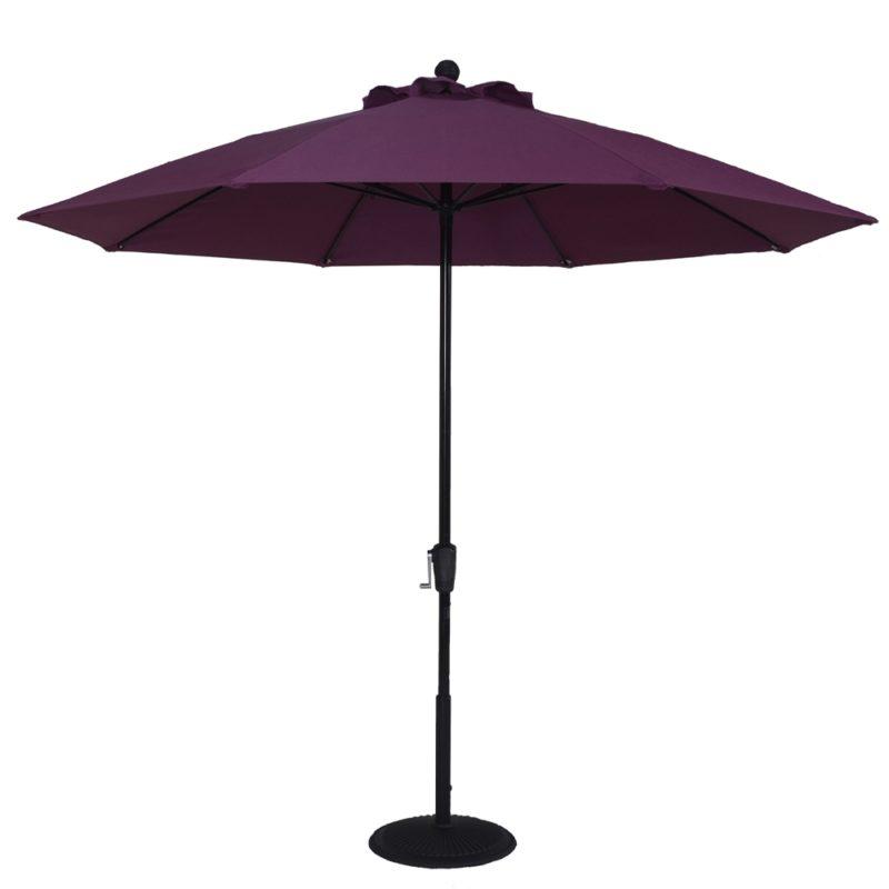 9 ft. Aluminum Market Crank Umbrella - No Tilt