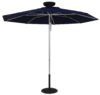 ILLUMISHADE Solar Powered LED Lighted Market 9 ft. Umbrella