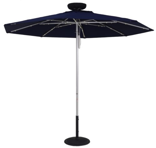 7.5 ft. Fire Retardant Solar Powered Umbrella