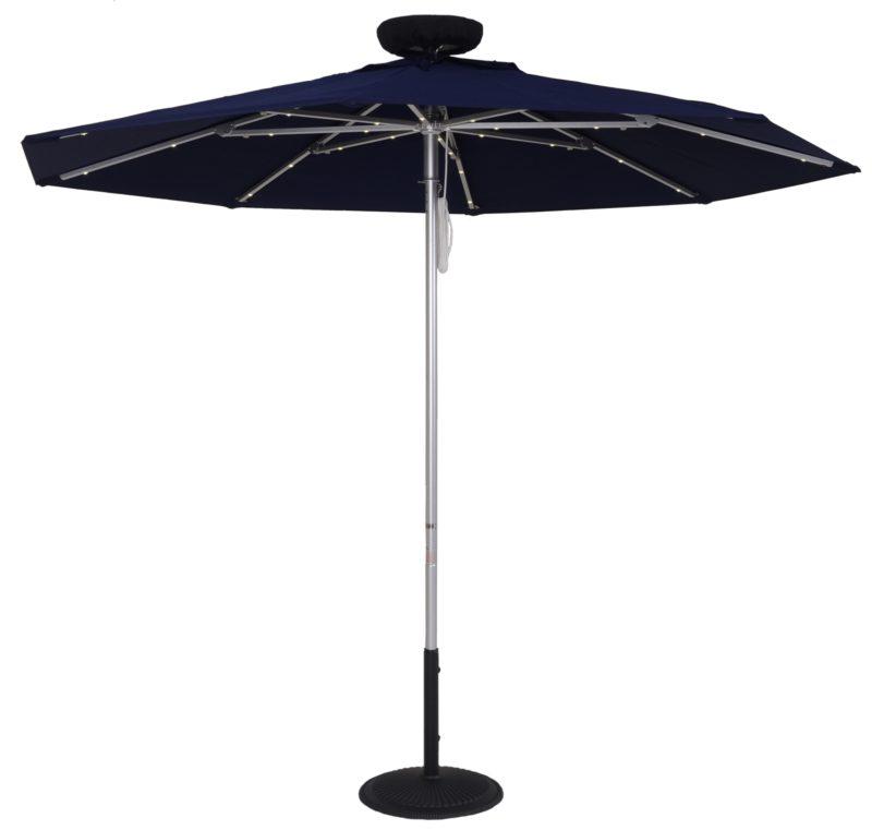 7.5 ft. Fire Retardant Solar Powered Umbrella