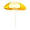 Sunflower Yellow and Natural White Beach Umbrella