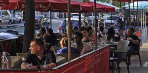 Cafes, Umbrellas & Market Umbrellas