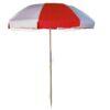 Sunbrella Logo Red & Natural White Beach Umbrella