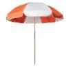 Sunbrella Orange and Oyster Beach Umbrella